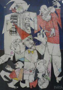 "*Mihai Bara (Roum) ""La Foire"" 900 € https://bit.ly/2n3F0uj"