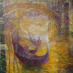 """*Aimé Venel (Fr) """"Gondoles sous le Pont du Rialto"""" 3600 €"""