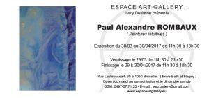 Invitation Paul Alexandre ROMBAUX