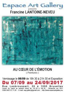Affiche Francine LANTOINE-NEVEU
