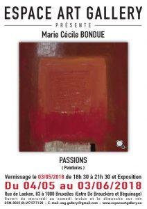 Affiche Marie Ceìcile BONDUE